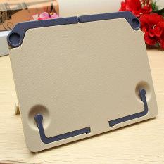 Harga Termurah Portable Folding Book Stand Reading Desk Dokumen Holder Penahan Buku Buku Berdiri Biru Intl