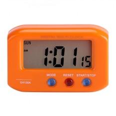 Portable LCD Display Digital Alarm Clock Tunda dengan Lampu Latar Meja Meja Dekorasi Mobil-Internasional