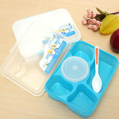 Jual Beli Bento Kotak Makan Siang Portabel Microwave 5X1 Kontainer Kotak Penyimpanan Anything Biru Di Tiongkok