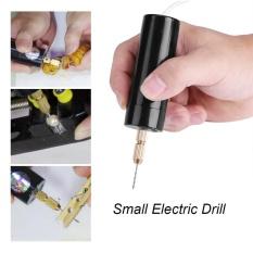 Spesifikasi Portable Mini Kecil Bor Listrik Micro Usb Bor Dengan 3 Pc Bits Dc 5 V Intl Yg Baik