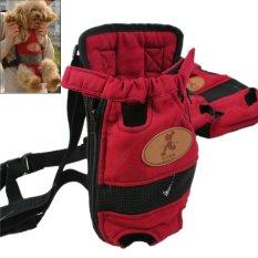 Wisata Portabel PET Pembawa Pet Anjing Dada Tas Ransel Double-bahu Prothorax L Tas Ukuran For Hewan Peliharaan Dalam 5500g Merah