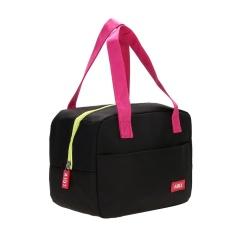 Beli Portable Tahan Air Ketebalan Insulated Piknik Sekolah Lunch Bag Hitam Lengkap