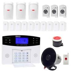 Portable YA-500-GSM-30 SMS Nirkabel Rumah GSM Alarm System-Intl