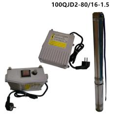 MAXPUMP Mesin Pompa Air Celup Sumur Bor / Pompa Satelit / Submersible Pump 1.5hp / 1100watt - Silver