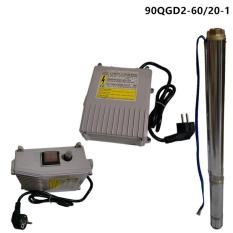 MAXPUMP Pompa Satelit Submersible pump 1Hp 3.5Inch Pompa Celup Untuk Sumur bor 4Inch Stainless - Silver