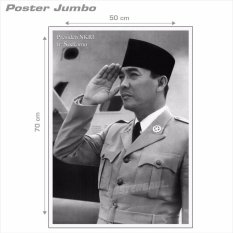 Poster Jumbo: Presiden Soekarno #SKN26 - 50 x 70 cmIDR27500. Rp 27.500