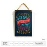 Promo Poster Kayu Quote Hiasan Dinding Unik Wooden Vintage Kata Motivasi 20X30Cm A119 Kayugraphy