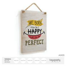 Poster Kayu Vintage Home Wall Decor Motivasi A005 - 30X40