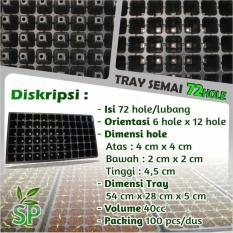 Pot Tray Semai / Bibit Untuk Benih Tanaman 72 Hole Lubang