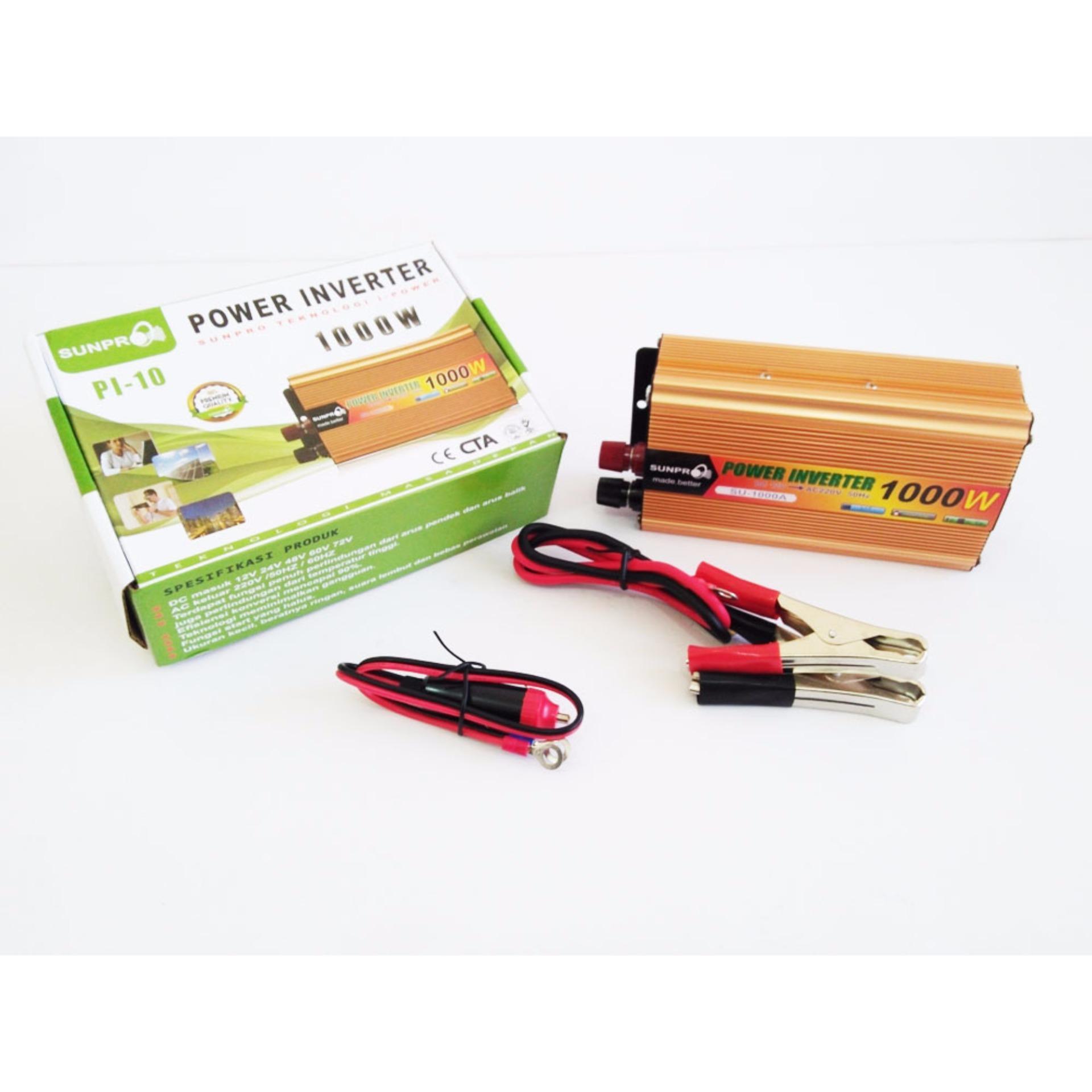 Pencari Harga Power Inverter 1000 watt Sunpro PI-10 terbaik murah - Hanya Rp237.538