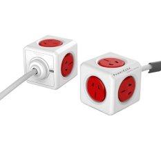 PowerCube 10A Universal Adaptor Dinding Power Socket dengan 5 Soket dan Garis Diperpanjang untuk Home Office, Panjang Kabel: 1.5 M, Pengiriman Warna Acak-Intl