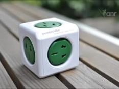 PowerCube mold square Rubik's cube electric outlet English standard socket - intl