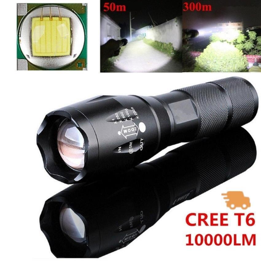 Jual Beli Kuat 10000Lm Cree T6 Lampu Led 5 Mode Zoomable Obor Tahan Air Outdoor Olahraga Berkemah Hiking Intl Di Tiongkok