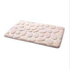 Praktis Berkualitas Tinggi Hot Jual 40x60 Cm 3D Batu Nonslip Carpet Shower Lantai Pebble Flanel Kamar Mandi Bath Rug- INTL