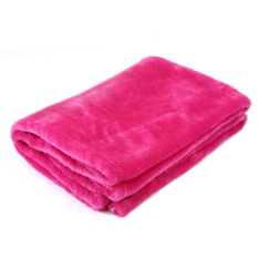 Praktis Berkualitas Tinggi Hot Jual Double Coral Soft Throw Selimut Halus untuk Perjalanan Anak-anak Flanel Sofa Warna Solid-Intl