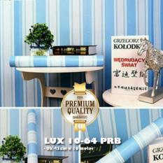 Beli Premium Quality Lux 10 64 Prb Luxurious Wallpaper Sticker Garis Salur Biru Cicilan