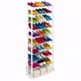 Harga Termurah Amazing Portable Shoe Rack Foldable 30 Pairs Rak Sepatu 10 Tingkat