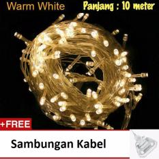 Lampu Tumblr Hias LED 10 Meter Warm White + Free Colokan Sambungan Kabel