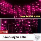 Tips Beli Lampu Tumblr Hias Led Tirai 3 Meter Sambungan Kabel Pink Yang Bagus