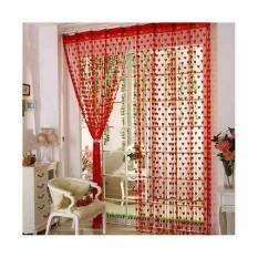 Prime Tirai Benang Cantik Motif Love 1 Pcs - Merah
