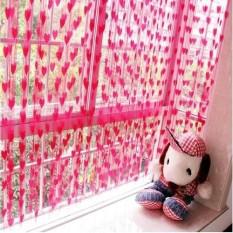 Prime Tirai Benang Cantik Motif Love 1 Pcs - Pink Tua
