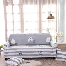 Dicetak Stretch Elastis Sofa Cover Slipcovers Pelapis Sofa untuk 1 Seater-Intl