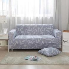 Dicetak Stretch Elastis Sofa Cover Slipcovers Pelapis Sofa untuk 2 Seater-Intl