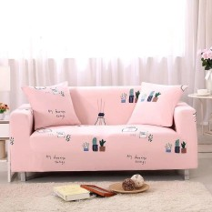 Printed Stretch Elastic Sofa Cover Slipcovers Couch Furniture Protector for 2 Seater - intl