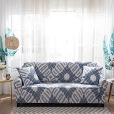 Printed Stretch Elastic Sofa Cover Slipcovers Couch Furniture Protector for 3 Seater - intl