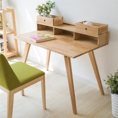 Prissilia Meja Minimalis Tentacool Pine Desk