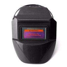 Spesifikasi Pro Solar Auto Darkening Welding Helmet Arc Tig Mig Mask Grinding Welder Mask Black Intl Terbaik