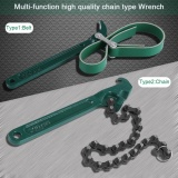 Diskon Professional Heavy Duty Chain Belt Wrench Hardware Air Filter Minyak Pipa Alat Perbaikan Belt Intl Oem