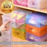 LOA - 10Pcs Box Kotak Sepatu Transparan Warna Warni Untuk Merapikan Rak  Sepatu  2e873798ad