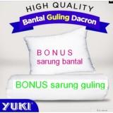 Spesifikasi Promo Bantal Guling Dacron Yuki Sepasang Bonus Sarung Sepasang Yuki Springbed Terbaru