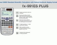 PROMO - CALCULATOR - CASIO - SCIENTIFIC CALCULATOR FX-991ES PLUS