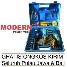 Promo FREE ONGKIR Mesin Bor Listrik Besi Kayu Beton Dan Mata Bor MODERN M 2130B Koper Murah