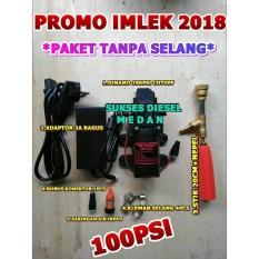 PROMO IMLEK 2018 New Mesin Cuci Steam Portable 5Meter Waterpump Paket Pompa Air DC Doorsmeer Mini Rumah Tangga 100psi Alat Cuci Motor Mobil Cuci AC