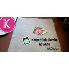 PROMO Karpet Bulu Domba Abu-Abu Ukuran 100x130cm