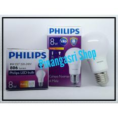 Promo Lampu LED Philips 8 Watt 8W  Philip KUNING 8 W Bulb LED 8Watt Warm White Sama Dengan 9 9.5 W