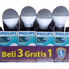 PROMO MURAH - Phillips Lampu LED 9 Watt Paket isi 4pcs