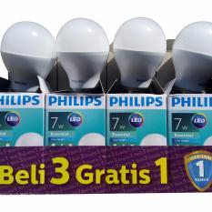 Diskon Murah Phillips Lampu Led 7 Watt Paket Isi 4 Pcs Akhir Tahun