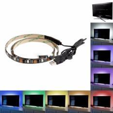 promo RGB Lampu Hias Ruangan Meja PC Tv - Lampu Led Strip Mood 5050 1M original