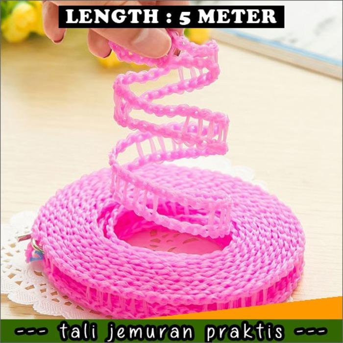 ... promo Tali Jemuran Baju / Pakaian 5 M (meter) Praktis Gantungan Hanger original