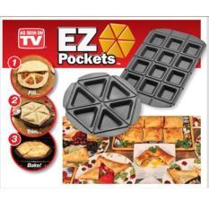 PROMOO...EZ Pockets Teflon Besar Cetak Pizza Apple Pie Cake Martabak Wajan Unik