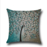 Beli Puding Oil Painting Pillow Case Blue Intl Pakai Kartu Kredit