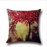 Iklan Puding Oil Painting Pillow Case Merah Intl