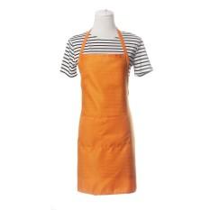 Jual Pure Color Apron Home Kitchen Restaurant Bib With Pocket Feat Orange Intl Murah Tiongkok