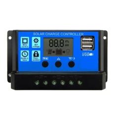 Jual Beli Pwm 20A Solar Charge Controller 12 V 24 V Lcd Display Dual Usb Solar Panel Charger Intl Baru Tiongkok