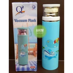 Harga Termurah Q2 7050 New Model Vacuum Flask 500Ml Termos Botol Minum Trendy Stylish Air Panas Dingin Stainless Steel Food Grade Bpa Free Biru Muda