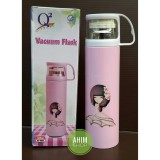 Q2 7050 New Model Vacuum Flask 500Ml Termos Botol Minum Trendy Stylish Air Panas Dingin Stainless Steel Food Grade Bpa Free Pink Ahim Diskon 40